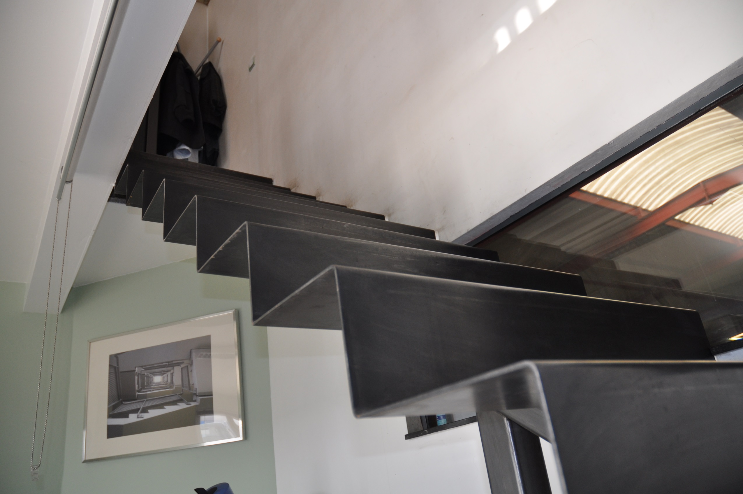 Escalier Acier Brut construction d'escaliers sur liège   ets bertrand