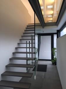 escalier métal liège